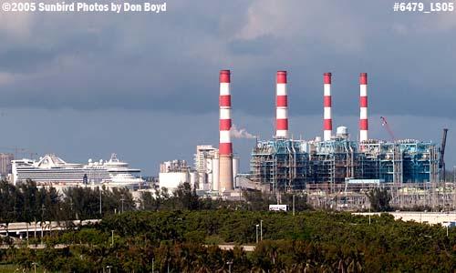 Florida Power & Lights Port Everglades power plant stock photo #6479