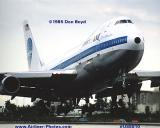 1985 - Pan Am B747-121(A) N743PA Clipper Black Sea aviation airline stock photo #US8510