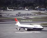 1983 - British Airways B747-136 at Miami aviation airline stock photo #EU8301
