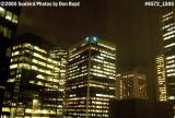 Downtown high-rise buildings at night in downtown Vancouver, BC stock photo #6572