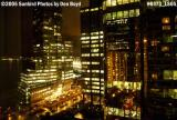 Downtown high-rise buildings at nigh in downtown Vancouver, BC stock photo #6573