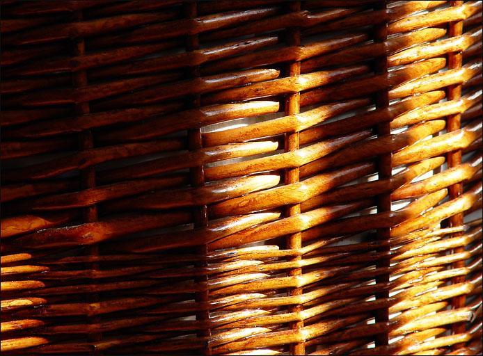 Sunlight on wicker