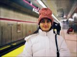 S at the subway station