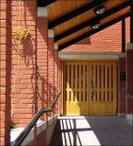 Entrance door and shadows