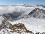 Glacier d'Ossoue, Montferrat et Gavarnie dans les nuages