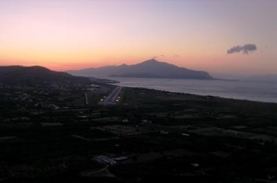 Samos Airfield at sunrise... very bumpy! - Greece