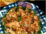 côte de porc-purée champignons