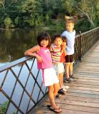june 24 kids on bridge