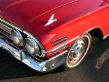 Detail of front fender trim on a 1960 Chevrole - Click for a bit more