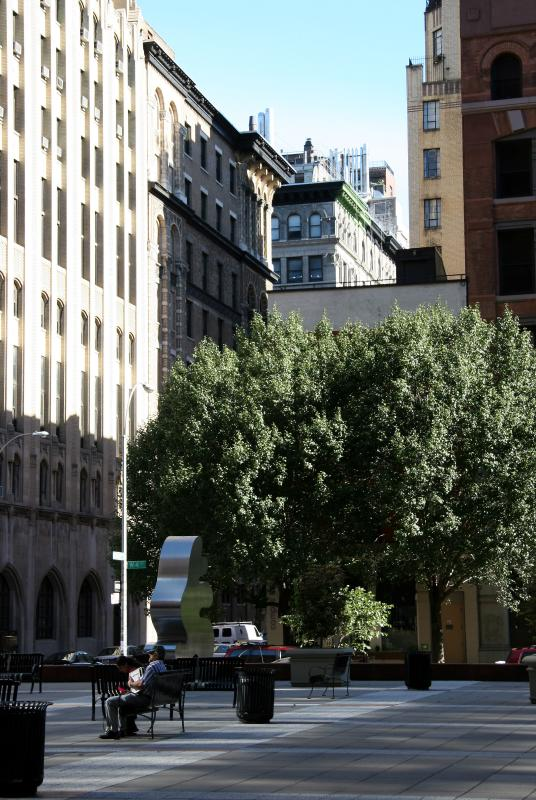 View from NYUs Gould Plaza at 4th Street