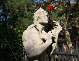 Indian Smelling a Rose - St Mark's Churchyard