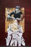 Brooklyn Art Food Chain Poster