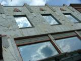 Crumbling Facade at an Angle