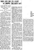 Newspaper clipping BREN GUN AT DIEPPE