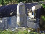 Buddha on the stone.