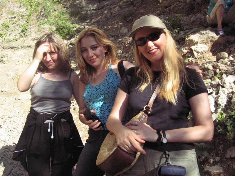 Ayten (Natavans sister,) Natavan and me at Tanga Alta.