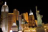 Skyline of New York-New York by night