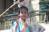Child Dressed in Blue Traditonal Dress (Closer)