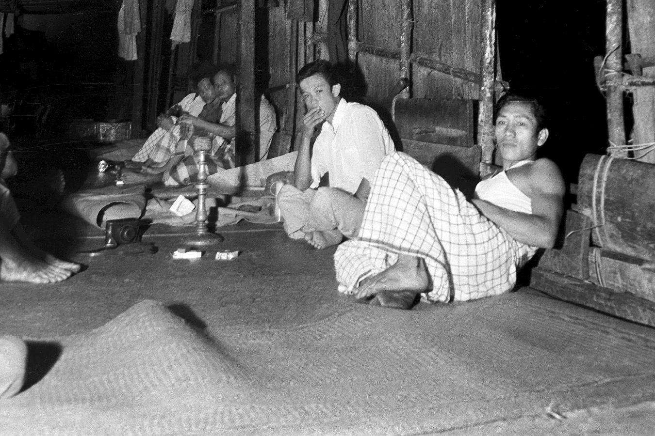 1964 Sarawak - Longhouse verandah in Ulu Baram