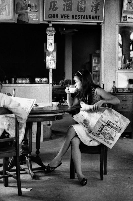 1965 Sarawak - Girl in a coffee shop