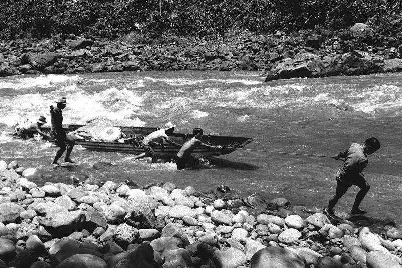1964 Sarawak - Rapids in Sungei Akah