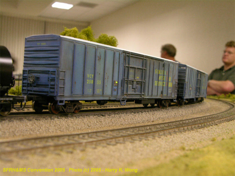 Nicely weathered 57 reefers by Rene Fernandez of NorCalF.
