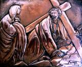 First fall of Jesus Filippo Lippi, replica, copper 27.5x22.5cm