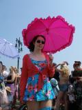 Pink Umbrella Girl