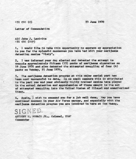 Don Muang Misty Letter