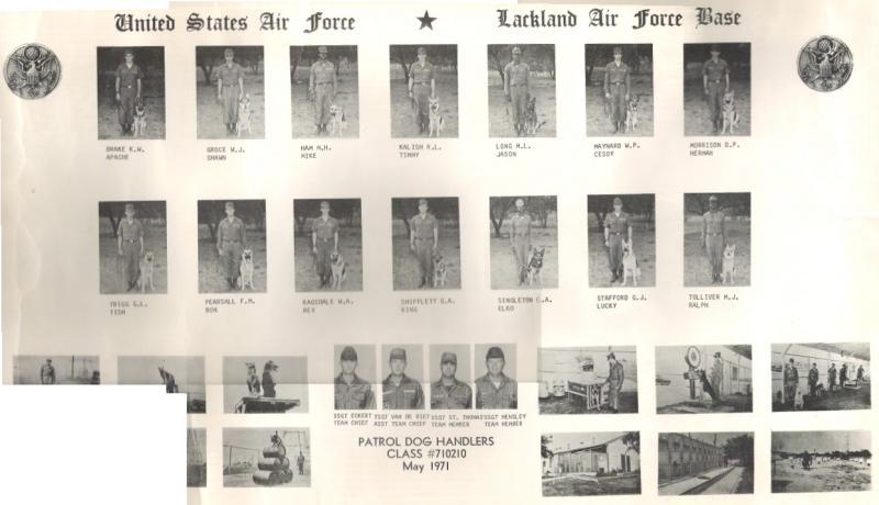 Patrol Dog Handler Class of 1971