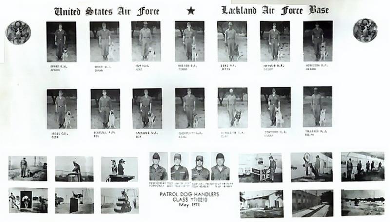 Patrol Dog Handlers Class 1971