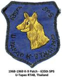 K9 Patch 635th   1968-1969