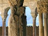 Ancient monastery cloister.
