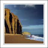 Paddlin', West Bay, south-west Dorset