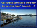 'Ecclesiastes 11v1' slide from the Lake District series