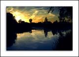 The sun sets on Ashmead lakes