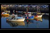 Boats and car park, West Bay, Dorset