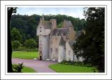 The front of Ballindalloch Castle, Banffshire, Scotland