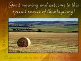 'Welcome' slide from the new Harvest series