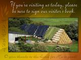 'If youre visiting' slide from the new Harvest series