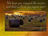 'We hope you enjoyed…' slide from the new Harvest series