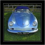 Blue sports car, Coughton, Warwickshire
