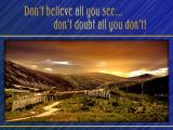 'Don't believe all you see…' slide from the Cairngorms series