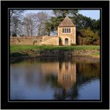 Moat pool, Great Chalfield, Wiltshire