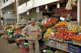 Greengrocer in the old bazaar