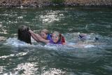 heidi and laura floating the sandy river
