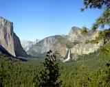 el capitan and bridalveil falls from tunnel view