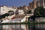 Ghats and palaces seen from boat