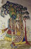 Mural (possibly of Vishnu and Lakshmi), City Palace