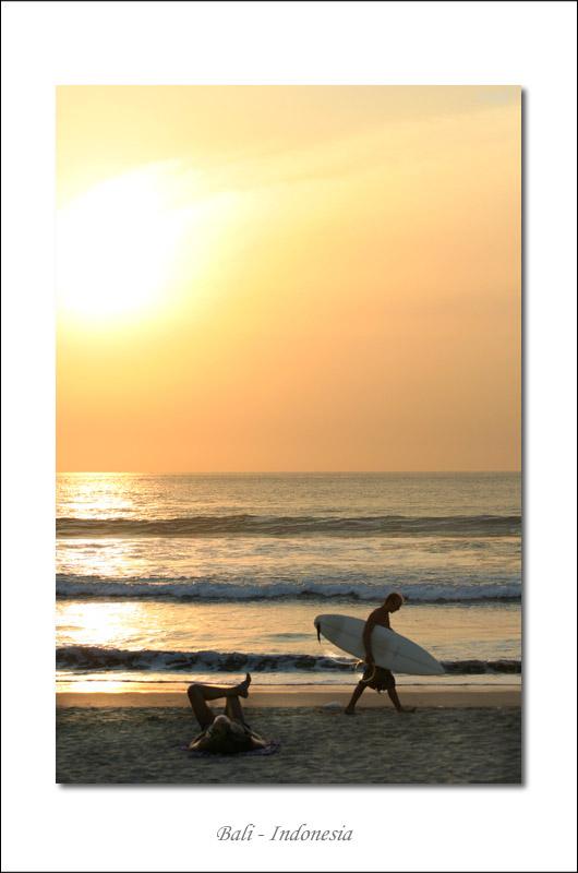 Surfer at Kuta Beach